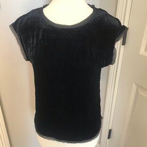 Boden velvet top Size 2 black